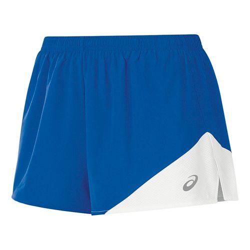 Womens ASICS Gunlap 1/2 Split Lined Shorts - Royal/White XL
