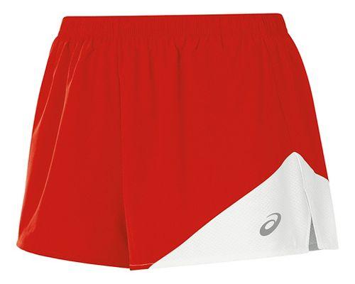 Womens ASICS Gunlap 1/2 Split Lined Shorts - Red/White XL