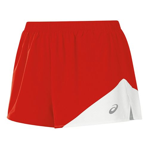 Womens ASICS Gunlap 1/2 Split Lined Shorts - Red/White XS