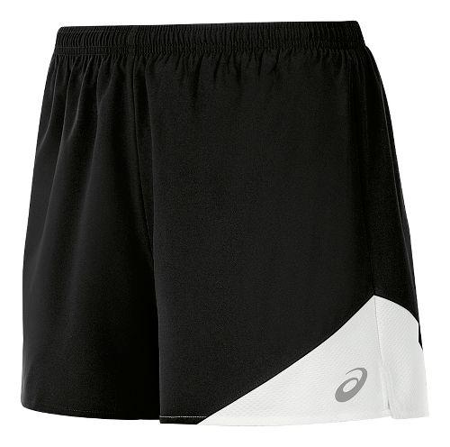 Womens ASICS Gunlap Lined Shorts - Black/White S
