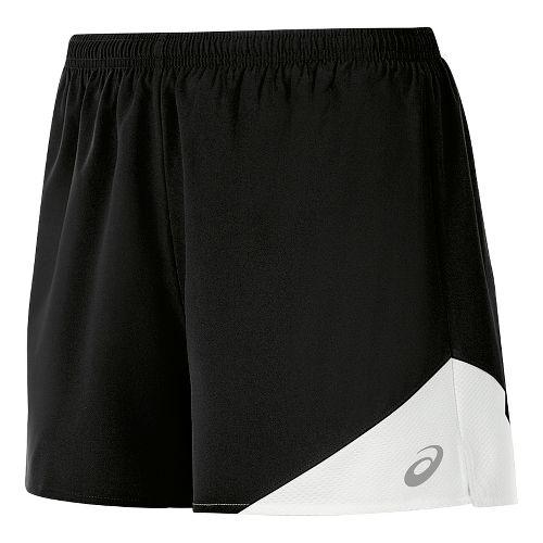 Womens ASICS Gunlap Lined Shorts - Black/White XS