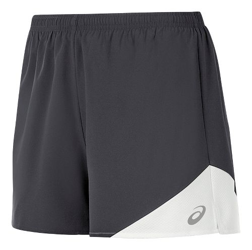 Womens ASICS Gunlap Lined Shorts - Steel Grey/White S