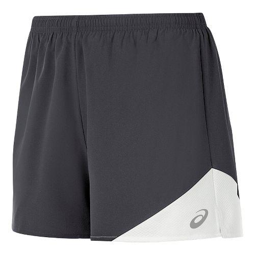 Womens ASICS Gunlap Lined Shorts - Steel Grey/White L