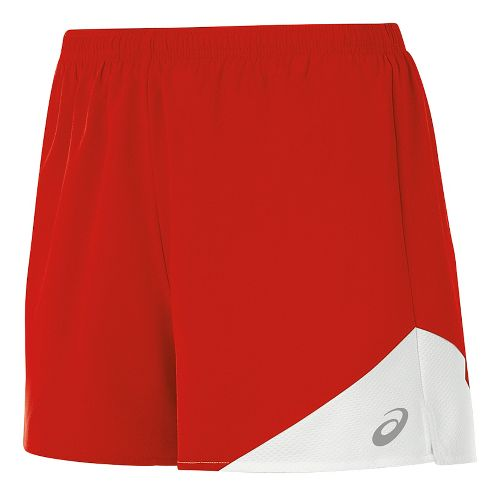 Womens ASICS Gunlap Lined Shorts - Red/White S