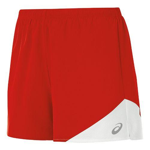 Womens ASICS Gunlap Lined Shorts - Red/White S