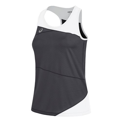 Womens ASICS Gunlap Singlet Sleeveless & Tank Tops Technical Tops - Steel Grey/White M