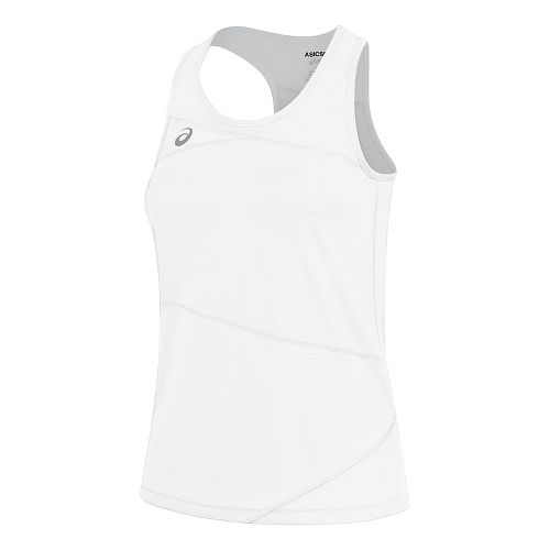Womens ASICS Gunlap Singlet Sleeveless & Tank Tops Technical Tops - White/White L