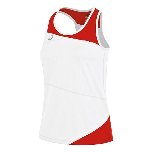 Womens ASICS Gunlap Singlet Sleeveless & Tank Tops Technical Tops - White/Red XL