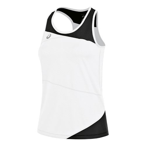Womens ASICS Gunlap Singlet Sleeveless & Tank Tops Technical Tops - White/Black S