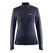 Womens Craft Facile Embossed Half-Zips & Hoodies Technical Tops