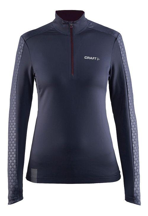 Womens Craft Facile Embossed Half-Zips & Hoodies Technical Tops - Gravel XL