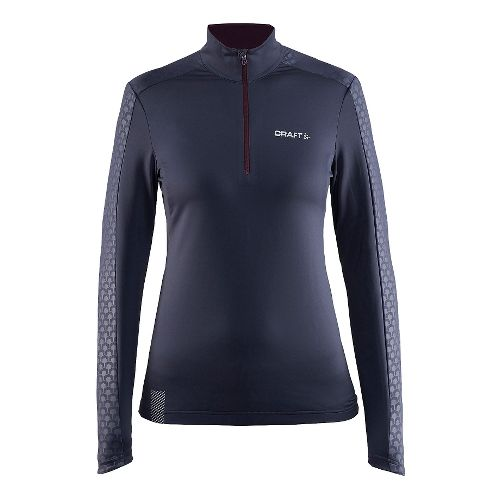 Womens Craft Facile Embossed Half-Zips & Hoodies Technical Tops - Gravel L