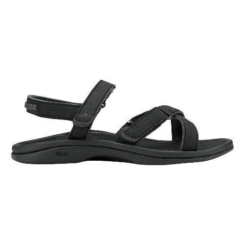 Womens Olukai Nakue Sandals Shoe - Black/Black 8