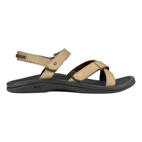 Womens Olukai Nakue Sandals Shoe - Bubbly/Black 9