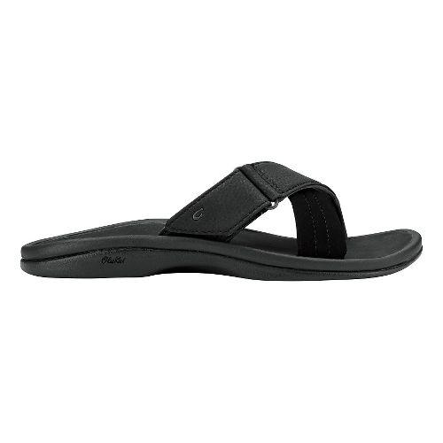 Womens Olukai Ohana Slide Sandals Shoe - Black/Black 10