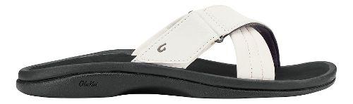 Womens Olukai Ohana Slide Sandals Shoe - White/Black 8