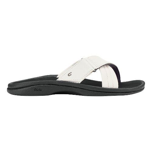 Womens Olukai Ohana Slide Sandals Shoe - White/Black 11