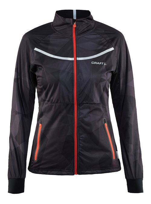 Womens Craft Intensity Cold Weather Jackets - Geo Black L