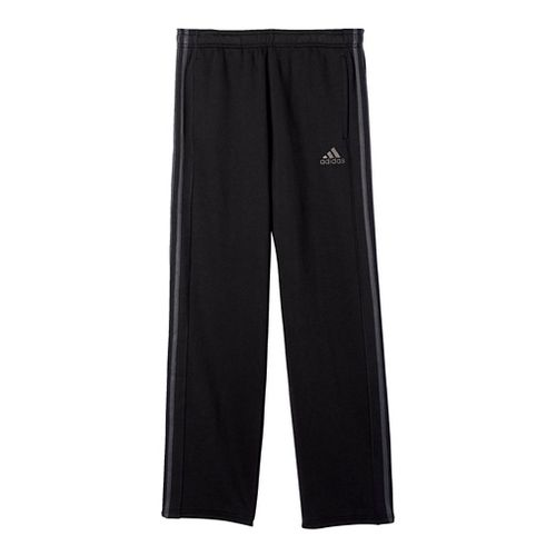 Mens Adidas Essential Cotton Fleece Pants - Black/Dark Grey L