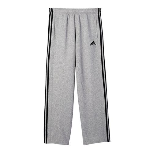 Mens Adidas Essential Cotton Fleece Pants - Medium Grey/Black S