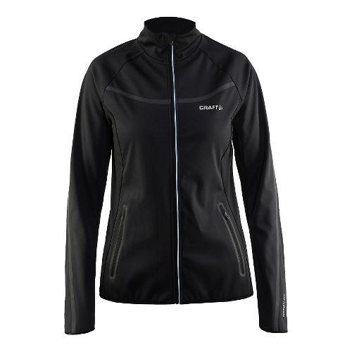 Womens Craft Intensity Softshell Running Jackets - Black L