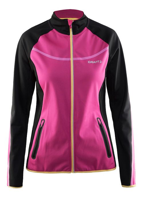 Womens Craft Intensity Softshell Running Jackets - Black/Smoothie L