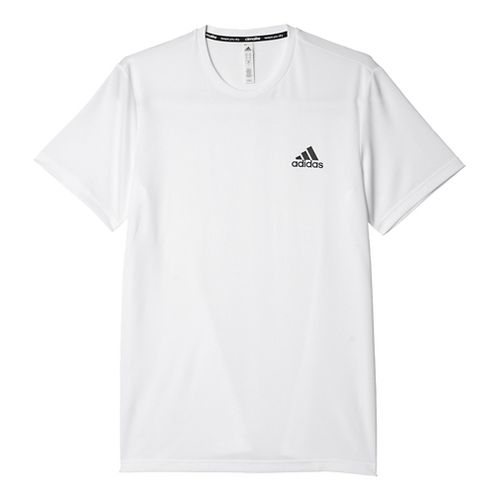 Mens Adidas Essential Tech Tee Short Sleeve Technical Tops - White S