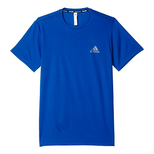 Mens Adidas Essential Tech Tee Short Sleeve Technical Tops - Royal L