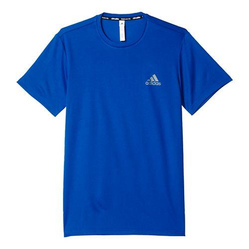 Mens Adidas Essential Tech Tee Short Sleeve Technical Tops - Royal XL