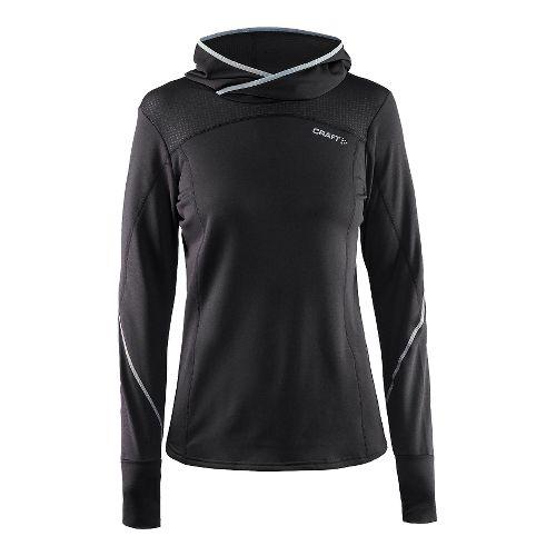 Womens Craft Mind Long Sleeve Half-Zips & Hoodies Technical Tops - Black L