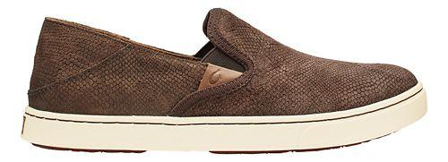 Womens Olukai Pehuea Leather Casual Shoe - Dark Java Honu/Java 8