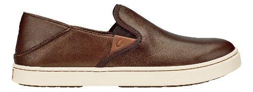 Womens Olukai Pehuea Leather Casual Shoe - Black Honu/Black 5