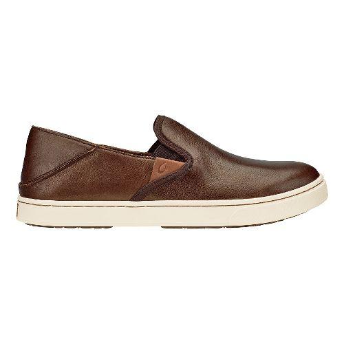 Womens Olukai Pehuea Leather Sandals Shoe - Bronze/Dark Java 5