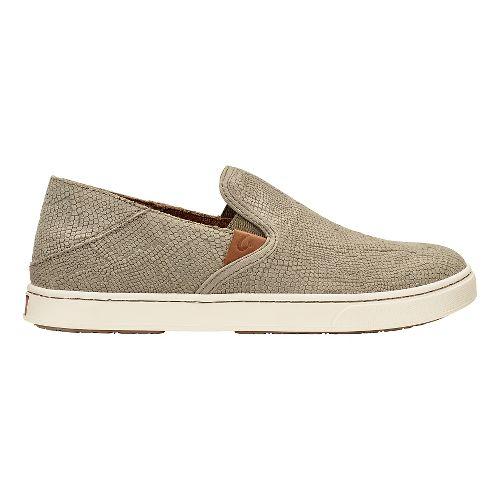 Womens Olukai Pehuea Leather Sandals Shoe - Clay Honu/Clay 11