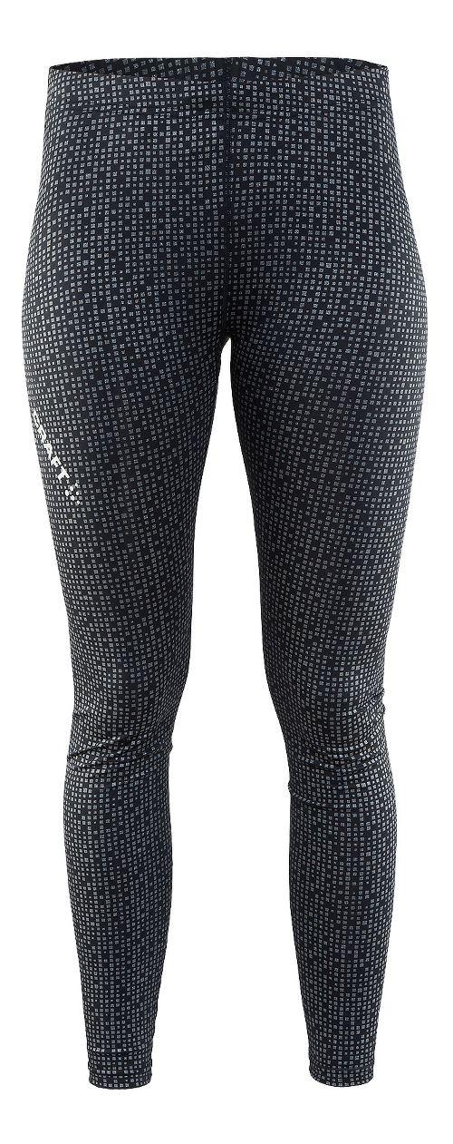Womens Craft Mind Reflective Tights & Leggings Pants - Black XS