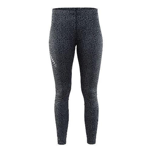 Womens Craft Mind Reflective Tights & Leggings Pants - Black L