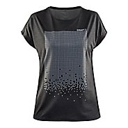 Womens Craft Mind Reflective Tee Short Sleeve Technical Tops
