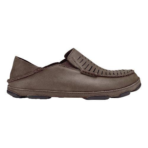 Mens Olukai  Moloa Kohona II Sandals Shoe - Dark Wood/Dark Wood 11