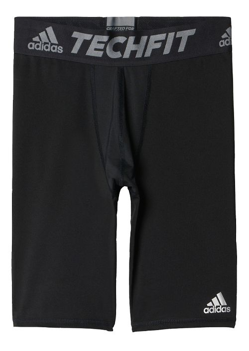 Mens adidas Techfit Short Tight Base-Layer Compression & Fitted Shorts - Black L