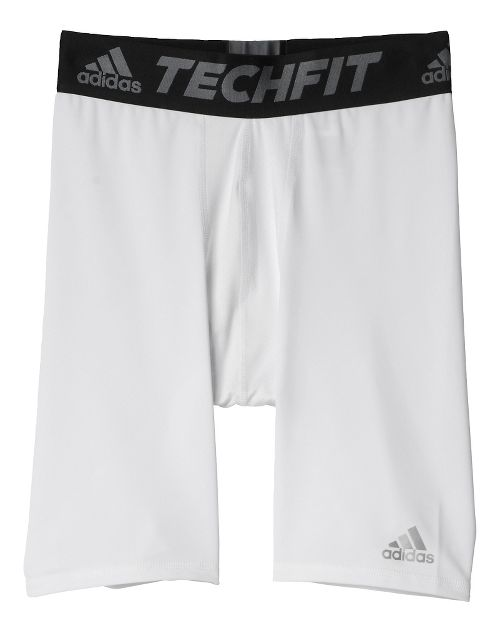 Mens adidas Techfit Short Tight Base-Layer Compression & Fitted Shorts - White XL