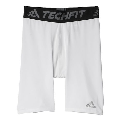 Mens Adidas Techfit Short Tight Base-Layer Compression & Fitted Shorts - White M-S