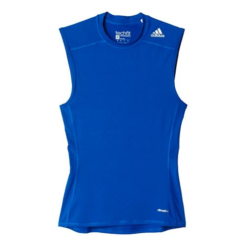 Mens Adidas Techfit Base-Layer Sleeveless & Tank Tops Technical Tops - Royal M