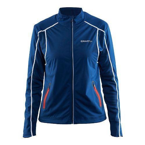 Womens Craft Podium Warm Cold Weather Jackets - Deep Blue L