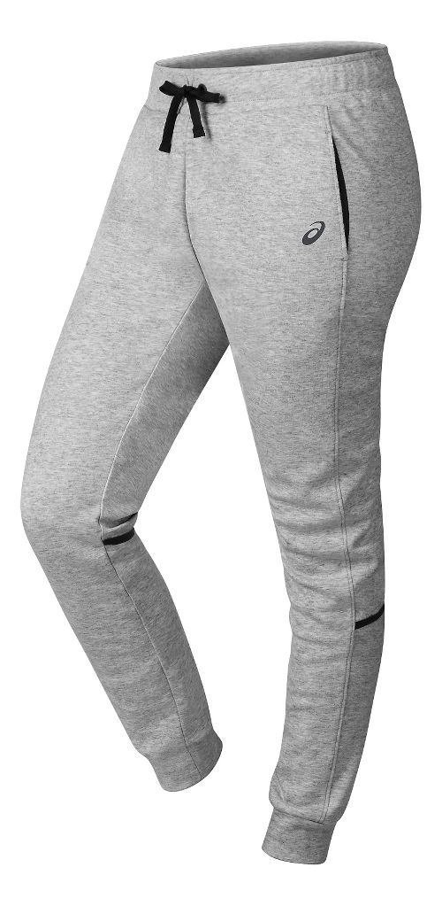 Womens ASICS Jogger Pants - Light Grey Heather XS