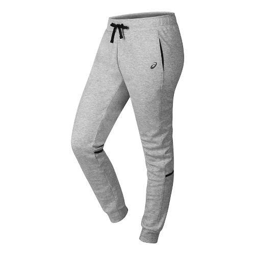 Womens ASICS Jogger Pants - Light Grey Heather XS