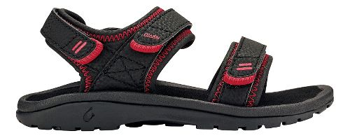 OluKai Pahu Sandals Shoe - Black/Black 2Y/3Y