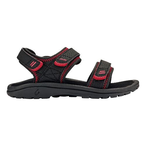 OluKai Pahu Sandals Shoe - Black/Black 4Y/5Y