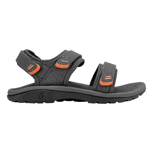 OluKai Pahu Sandals Shoe - Charcoal/Charcoal 4Y/5Y