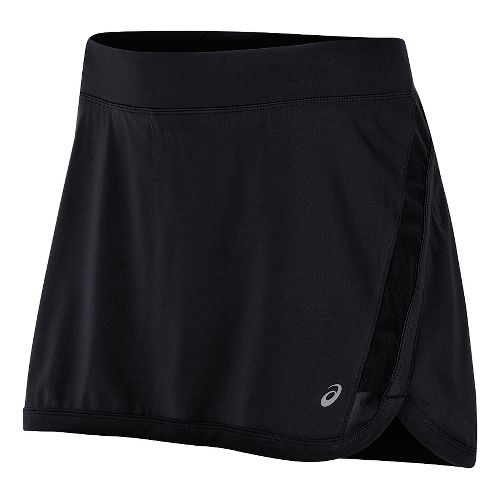 Womens ASICS Interval Skorts Fitness Skirts - Black S