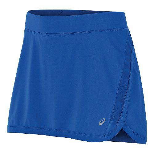 Womens ASICS Interval Skorts Fitness Skirts - New Blue XL